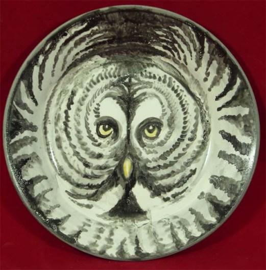 Grey Owl plate